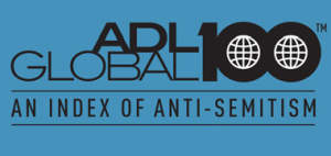 logo ADL Global 100 Index of Anti-Semitism