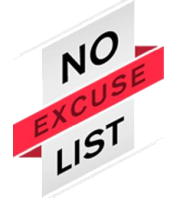 logo No Excuse List
